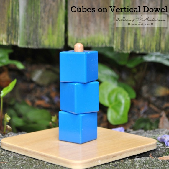 Cubes on vertical dowel